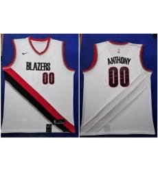 Blazers 0 Damian Lillard White 2019 20 Nike Swingman Jersey
