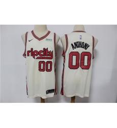 Blazers 00 Carmelo Anthony Cream 2019 20 Nike Swingman Jersey