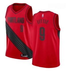 Blazers #9 Nassir Little Red Basketball Swingman Statement Edition Jersey