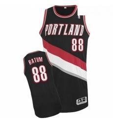 Revolution 30 Blazers 88 Nicolas Batum Black Stitched NBA Jersey