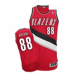 Revolution 30 Blazers 88 Nicolas Batum Red Stitched NBA Jersey