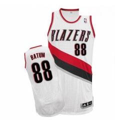 Revolution 30 Blazers 88 Nicolas Batum White Stitched NBA Jersey