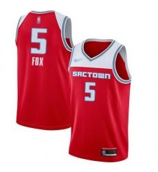 Kings  5 De Aaron Fox Red Basketball Swingman City Edition 2019 20 Jersey