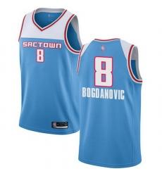 Kings  8 Bogdan Bogdanovic Blue Basketball Swingman City Edition 2018 19 Jersey
