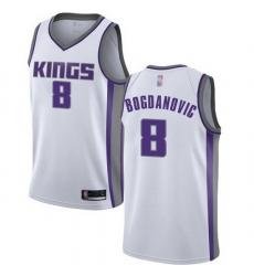 Kings  8 Bogdan Bogdanovic White Basketball Swingman Association Edition Jersey