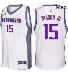 Sacramento Kings 15 Frank Mason III Home White New Swingman Stitched NBA Jersey