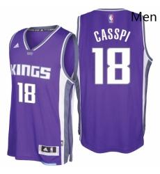Sacramento Kings 18 Omri Casspi 2016 17 Seasons Purple Road New Swingman Jersey