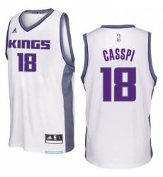 Sacramento Kings 18 Omri Casspi 2016 17 Seasons White Home New Swingman Jersey