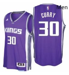 Sacramento Kings 30 Seth Curry 2016 17 Seasons Purple Road New Swingman Jersey