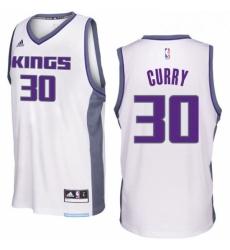Sacramento Kings 30 Seth Curry 2016 17 Seasons White Home New Swingman Jersey
