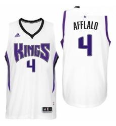Sacramento Kings 4 Arron Afflalo Home White New Swingman Jersey
