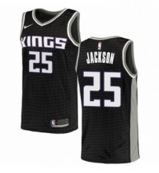 Womens Nike Sacramento Kings 25 Justin Jackson Swingman Black NBA Jersey Statement Edition