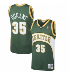 Men Seattle SuperSonics Kevin Durant #35 Mitchell Ness Green NBA Jersey