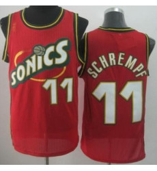 Seattle SuperSonics 11 Detlef Schrempf Red Throwback Revolution 30 NBA Basketball Jerseys
