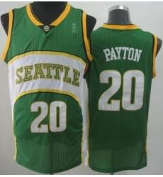 Seattle SuperSonics 20 Gary Payton Green Throwback Revolution 30 NBA Basketball Jerseys