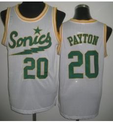 Seattle SuperSonics 20 Gary Payton White Throwback Revolution 30 NBA Basketball Jerseys