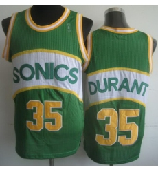 Seattle Supersonic 35 Kevin Durant Green Hardwood Classics Revolution 30 NBA Jerseys