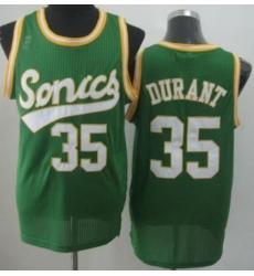 Seattle Supersonic 35 Kevin Durant Green Revolution 30 NBA Basketball Jerseys