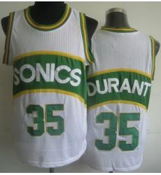 Seattle Supersonic 35 Kevin Durant White Hardwood Classics Revolution 30 NBA Jerseys