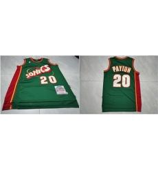 SuperSonics 20 Gary Payton Green 1995 96 Hardwood Classics Jersey