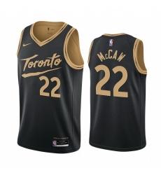 Men Nike Toronto Raptors 22 Patrick McCaw Black NBA Swingman 2020 21 City Edition Jersey