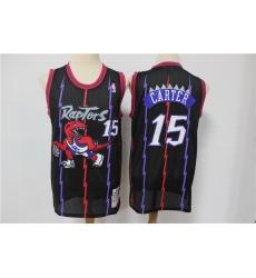 Men Toronto Raptors 15 Vince Carter Purple Hardwood Classics Jersey