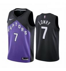 Men Toronto Raptors 7 Kyle Lowry Purple NBA Swingman 2020 21 Earned Edition Jersey