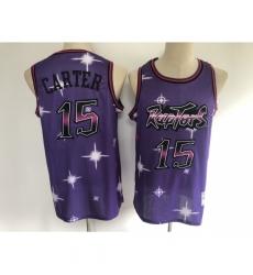 Men's Toronto Raptors #15 Vince Carter Purple Hwc Starry Jersey
