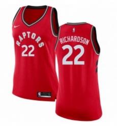 Womens Nike Toronto Raptors 22 Malachi Richardson Authentic Red NBA Jersey Icon Edition