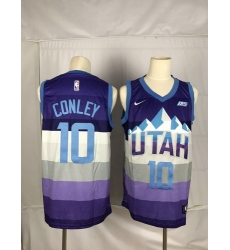 Jazz 10 Mike Conley Purple City Edition Nike Swingman Jersey