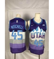 Jazz 45 Donovan Mitchell Purple City Edition Nike Swingman Jersey