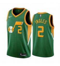 Men Utah Jazz 2 Joe Ingles Green NBA Swingman 2020 21 Earned Edition Jersey