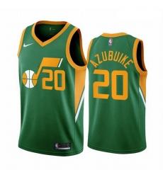 Men Utah Jazz 20 Udoka Azubuike Green NBA Swingman 2020 21 Earned Edition Jersey