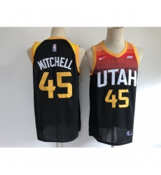 Men's Utah Jazz #45 Donovan Mitchell Nike Black City Player Jersey