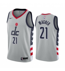 Men Nike Washington Wizards 21 Moritz Wagner Gray NBA Swingman 2020 21 City Edition Jersey
