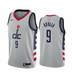 Men Nike Washington Wizards 9 Deni Avdija Gray NBA Swingman 2020 21 City Edition Jersey