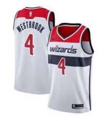 Men Washington Wizards Russell Westbrook Nike Red Jordan Brand White 2020-21 Swingman Jersey