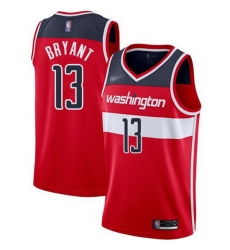 Wizards  13 Thomas Bryant Red Basketball Swingman Icon Edition Jersey