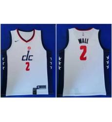 Wizards 2 John Wall White 2019 20 City Edition Nike Swingman Jersey