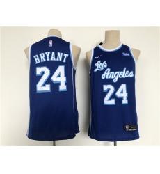Men Los Angeles Lakers 24 Bryant Blue Throwback 2021 Nike NBA Jersey