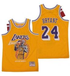 Men Los Angeles Lakers 24 Kobe Bryant skeleton Stitched Jersey