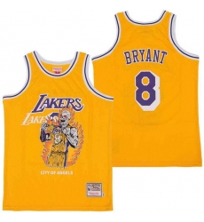 Men Los Angeles Lakers 8 Kobe Bryant skeleton Stitched Jersey