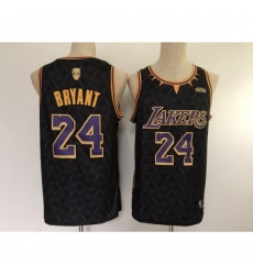 Men's Los Angeles Lakers #24 Kobe Brant Black Stitched Basketball Jersey
