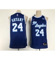 Men's Los Angeles Lakers #24 Kobe Bryant Blue Throwback Basketball Jersey
