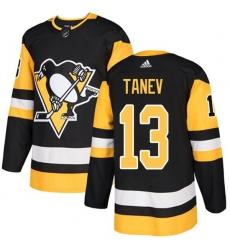 Men Pittsburgh Penguins 13 Brandon Tanev Black Home Stitched NHL Jersey