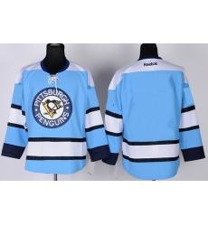 women Pittsburgh Penguins Blank Light Blue Jersey
