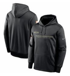 Men Washington Football Team Nike 2020 Salute to Service Sideline Performance Pullover Hoodie Black