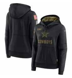 Women Dallas Cowboys Nike 2020 Salute to Service Performance Pullover Hoodie Black