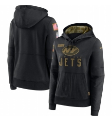 Women New York Winnipeg Jets Nike 2020 Salute to Service Performance Pullover Hoodie Black