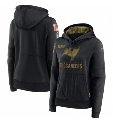 Women Tampa Bay Buccaneers Nike 2020 Salute to Service Performance Pullover Hoodie Black